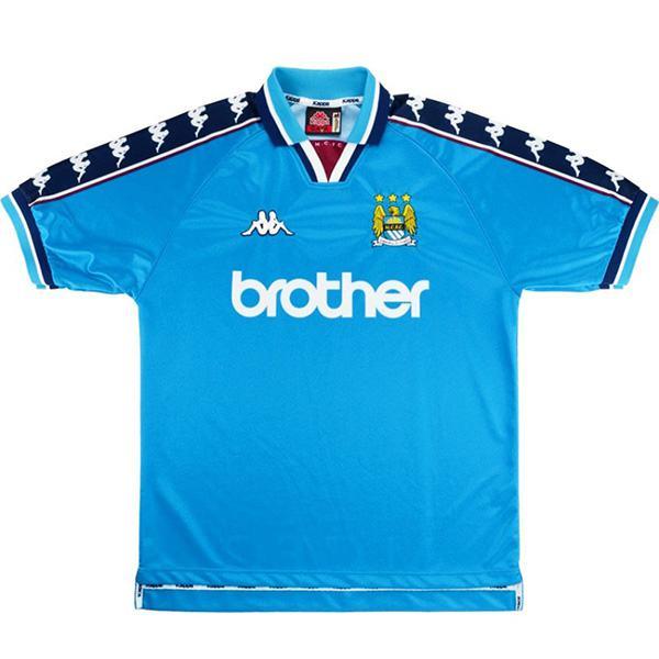 Manchester city home retro jersey vintage soccer match men's first sportswear football shirt 1998-1999