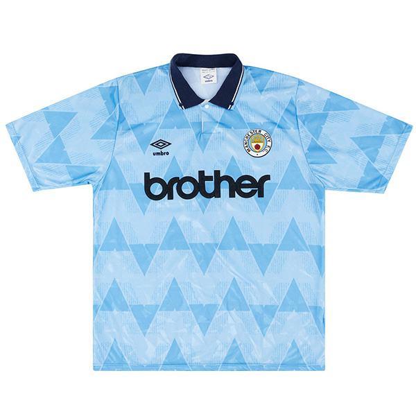 Manchester city home retro soccer jersey sportswear men's first shirt football sport t-shirt 1989-1990