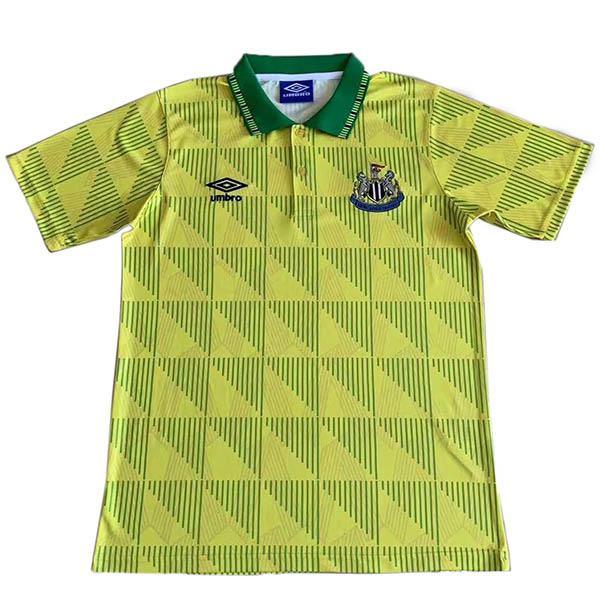 Newcastle United away retro vintage soccer jersey men's second sportswear football tops sport shirt 1991