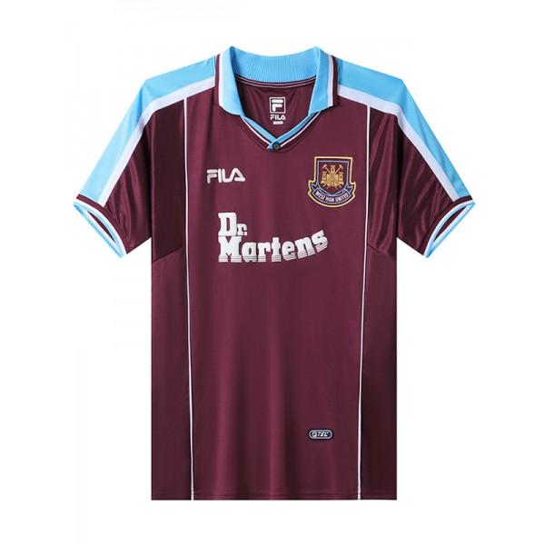 West ham united home retro soccer jersey maillot match men's 1st sportwear football shirt 1999-2001