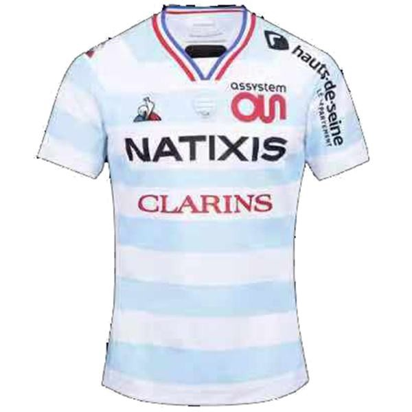 2021 France home 92 racing jersey le coq sportif racing 92 first shirts white