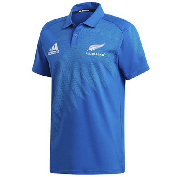 All Black Rugby Polo Jersey Men's Gameday RWC Replica Shirt Blue 2019/2020