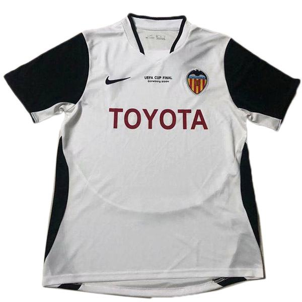 Valencia home retro jersey double champions maillot match men's 1st soccer sportwear football shirt 2003-2004