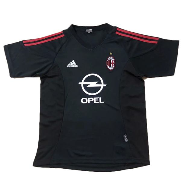 AC milan away retro soccer jersey maillot match men's 2ed sportwear football shirt 2002-2003