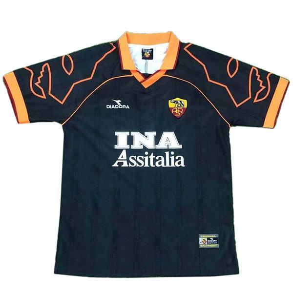 AS roma away retro soccer jersey maillot match men's second sportswear football shirt 1999-2000