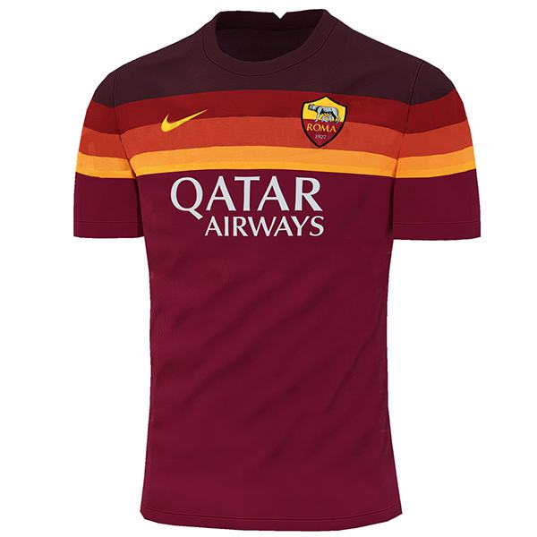 As roma home jersey sportwear men's 1st soccer shirt football sport t-shirt 2020-2021