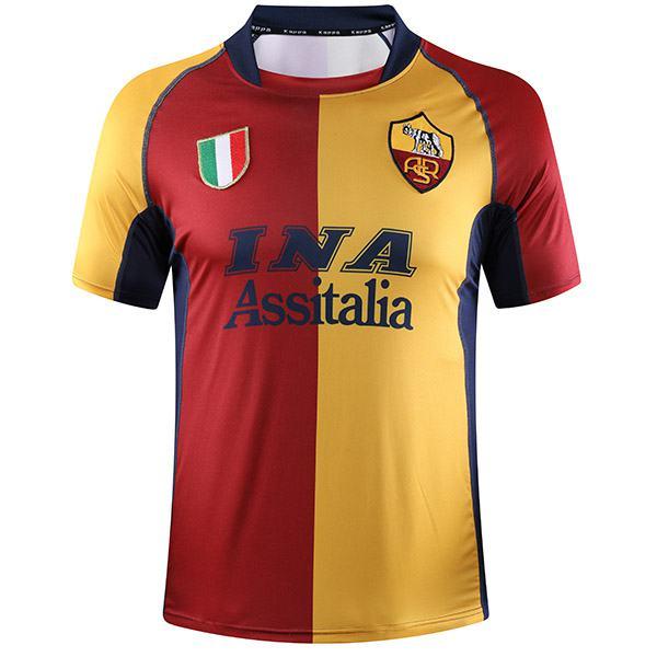 AS roma home retro soccer jersey maillot match men's 1st sportwear football shirt 2001-2002