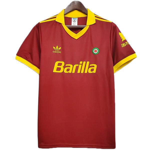 AS roma home retro soccer jersey maillot match men's first sportswear football shirt 1991-1992