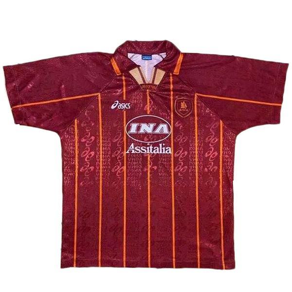 AS roma home retro soccer jersey maillot match men's first sportswear football shirt 1996-1997