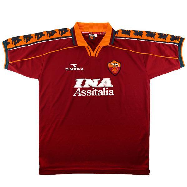 AS roma home retro soccer jersey maillot match men's first sportswear football shirt 1998