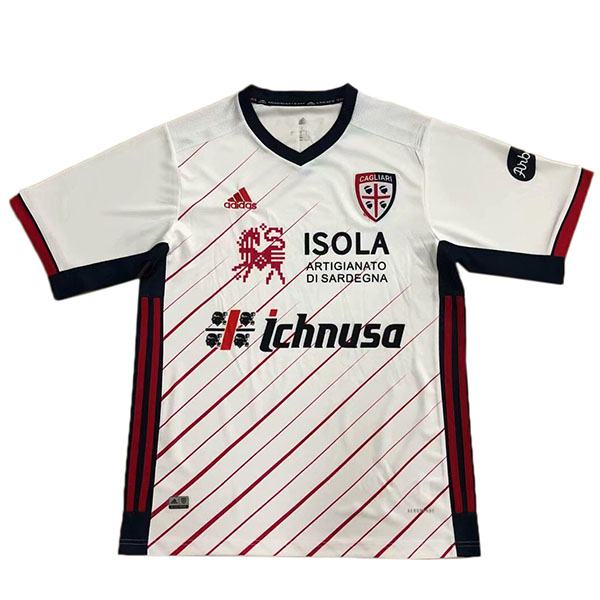 Cagliari away soccer jersey maillot extérieur match men's second soccer sportwear football shirt 2020-2021