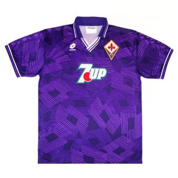 Fiorentina home retro soccer jersey maillot match men's 1st sportwear football shirt 1992-1993