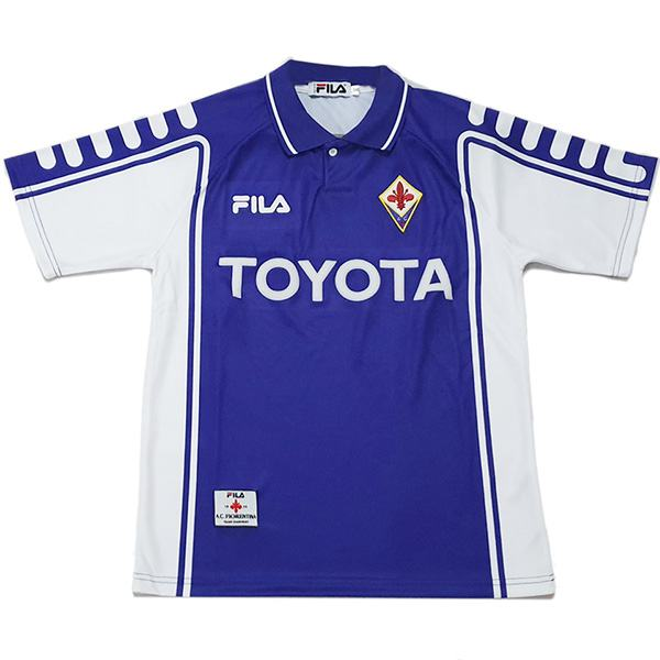 Florence home retro football jersey maillot match men's 1st sportwear football shirt 1999-2000