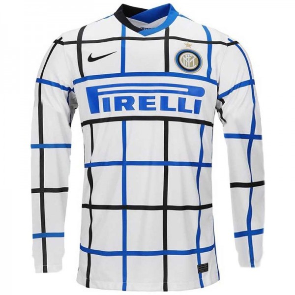 Inter milan away jersey long sleeve maillot match men's second soccer sportwear football shirt 2020-2021