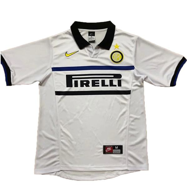 Inter milan away retro soccer jersey maillot match men's 2ed sportwear football shirt 1998-1999