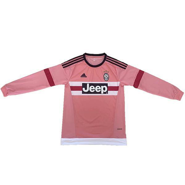 Juventus away retro soccer jersey long sleeve sportswear men's second soccer shirt football sport t-shirt 2015-2016