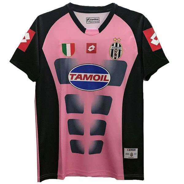 Juventus away retro soccer jersey sportswear men's second soccer shirt football sport t-shirt pink 2002-2003