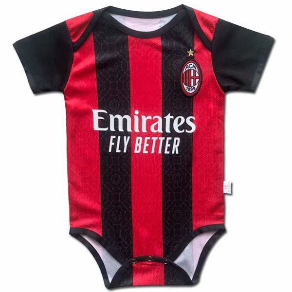 AC milan home baby onesie new born baby sunmmer clothes one-piece junpsuit 2020-2021