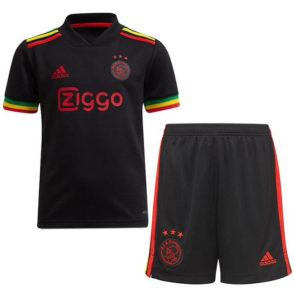 Ajax third kids kit soccer children 3rd football mini shirt maillot match youth uniforms 2021-2022