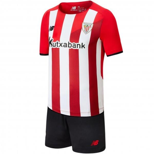 Athletic Bilbao home kids kit soccer children first football mini shirt mini maillot match youth uniforms 2021-2022