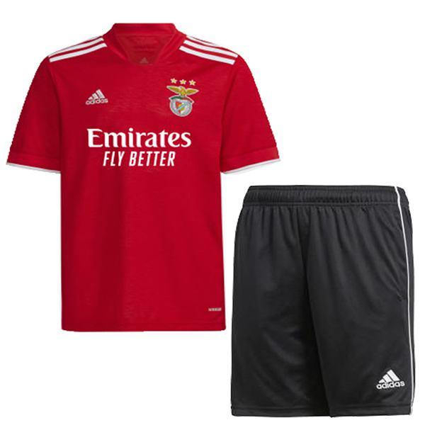 Benfica home kids kit soccer children first football shirt maillot match youth uniforms 2021-2022