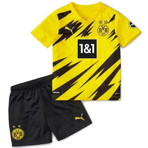 Borussia Dortmund home kids kit children football shirt youth soccer 1st uniforms 2020-2021