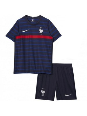 France Home Kids Kit Jersey Maillot Soccer Children 1st Football Shirt Youth Uniforms Euro 2020