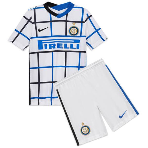 Inter milan away kids kit soccer children 2ed football shirt maillot match maglia gara youth uniforms 2020-2021
