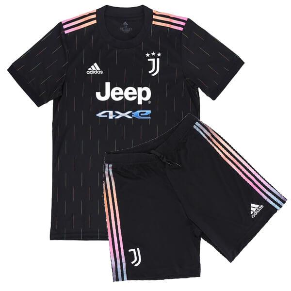 Juventus away jersey kids kit soccer children football shirt mini maillot match youth uniforms 2021-2022