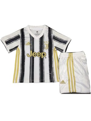 Juventus Home Kids Kit Concept Soccer Children 1st Football Shirt Youth Uniforms 2020-2021