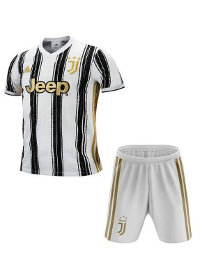 Juventus Home Kids Kit Soccer Children 1st Football Shirt Youth Uniforms 2020-2021