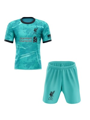 Liverpool away kids kit soccer children 2ed football shirt youth uniforms 2020-2021