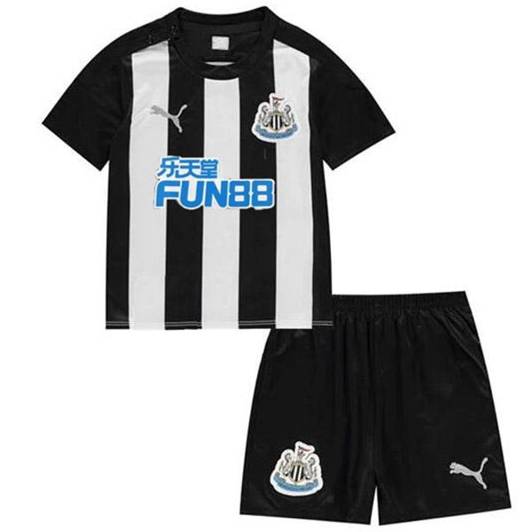 Newcastle United home kids kit soccer children first football shirt maillot match youth uniforms 2020-2021