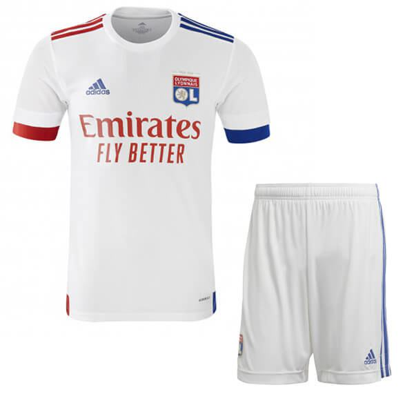 Olympique Lyon home kids kit children football shirt youth soccer 1st uniforms 2020-2021