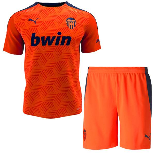 Valencia third kids kit soccer children 3rd football shirt maillot match youth uniforms 2020-2021