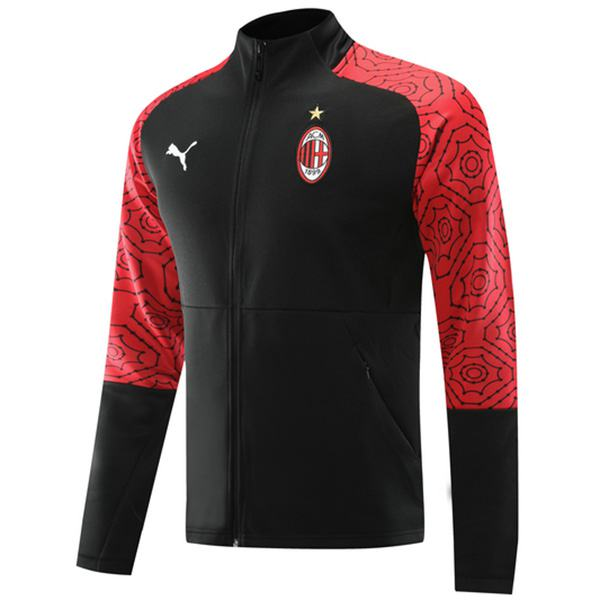 AC Milan Jacket Sport Football Sportwear Tracksuit Full Zipper Men's Training Jersey Black Red Athletic Outdoor Soccer Coat 2020-2021