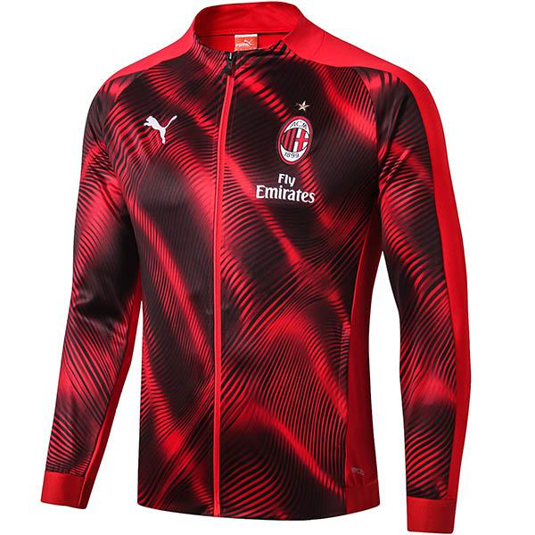 AC Milan Jacket Suit Borland Football Sportwear Tracksuit Full Zipper Men's Training Kit Athletic Outdoor Red Black Soccer Coat 2019