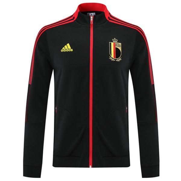 Belgium Jacket Football Sportswear Tracksuit Full Zipper Men's Training Jersey Athletic Outdoor Soccer Coat Black 2021-2022