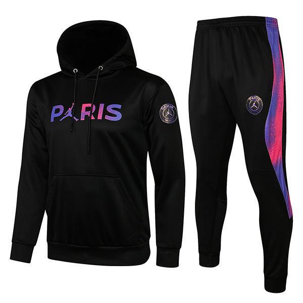 Jordan Air Fly Paris Saint Germain Hoodie Jacket PSG Men's Football Sportswear Tracksuit Full Zipper Men's Training Jersey Athletic Outdoor Soccer Coat Black 2021-2022