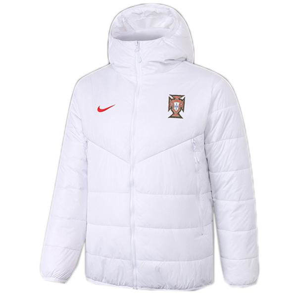 Portugal hoodie winter cotton coat jacket men's warm clothing windbreaker athletic outdoor soccer coat white 2020-2021
