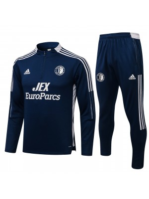 Feyenoord Rotterdam tracksuit soccer pants suit sports set necked cleats men's clothes football training jersey navy 2021-2022