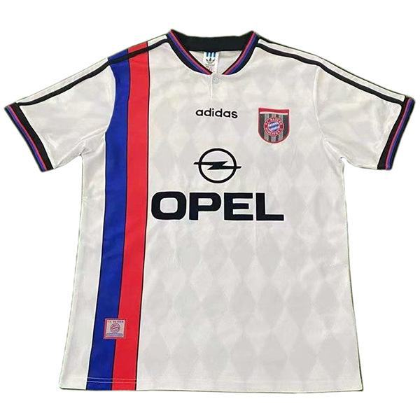 Bayern munich away retro vintage soccer jersey match men's second sportswear football white shirt 1995-1996