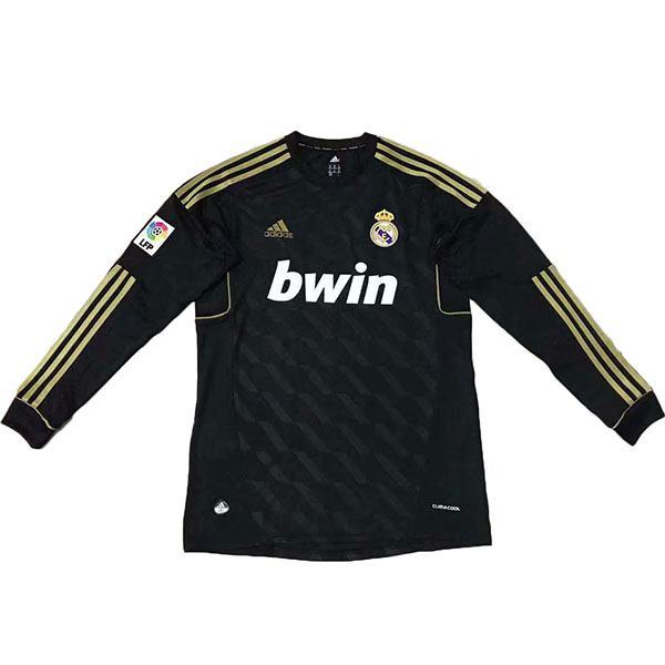Real Madrid away long sleeve retro jersey black 2012