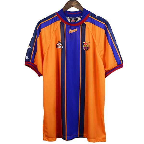 Barcelona away retro soccer jersey maillot match men's second sportswear football shirt 1997