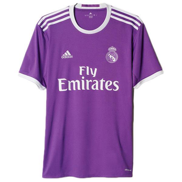 Real madrid away retro jersey match men's second sportswear football shirt purple 2016-2017