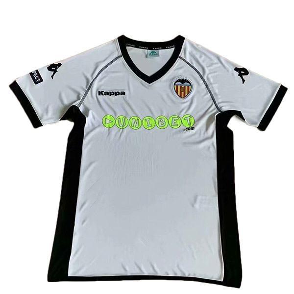 Valencia home retro vintage soccer jersey match men's first sportswear football shirt 2011-2012