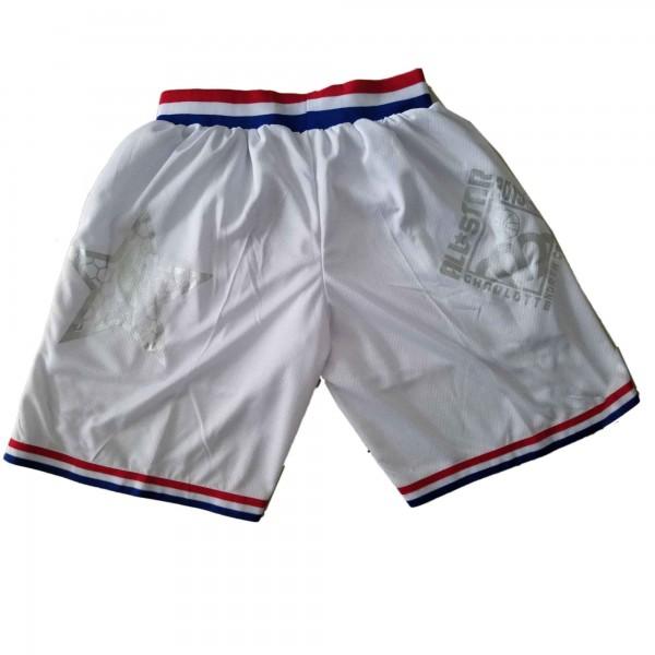 2019 All Star Game Authentic White Jordan NBA Shorts