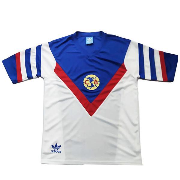 Club America away retro soccer jersey maillot match men's 2ed sportwear football shirt 1987