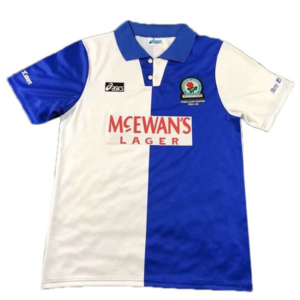 Blackburn rovers home retro jersey premier leage champions maillot match men's 1st soccer sportwear football shirt 1994-1995