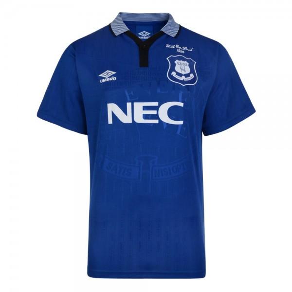Everton home retro soccer jersey maillot match men's 1st sportwear football shirt 1995-1996